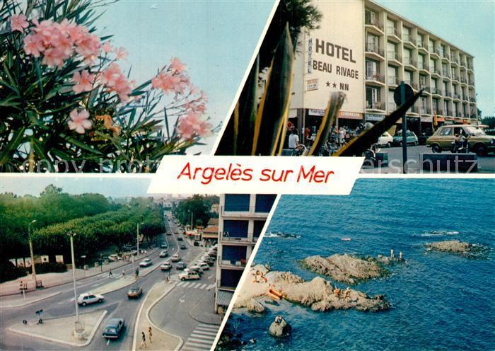 Argeles sur Mer Lauriers Roses Hotel Beau Rivage Rond Point Criques du raco Argeles sur Mer