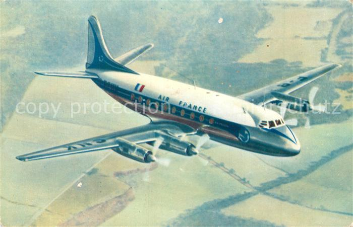 Flugzeuge_Zivil Air France Vickers Viscount