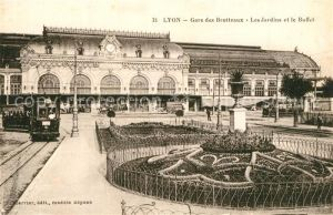 Strassenbahn Lyon Gare des Brotteaux Jardins Buffet