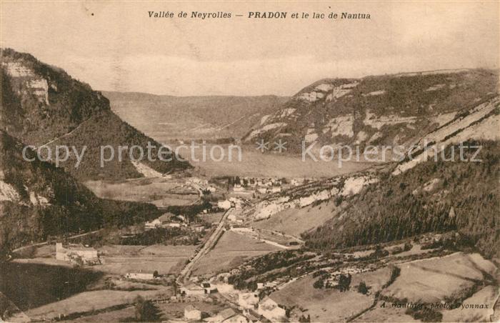 Neyrolles_Les Fliegeraufnahme Pradon et le lac de Nantua Neyrolles_Les