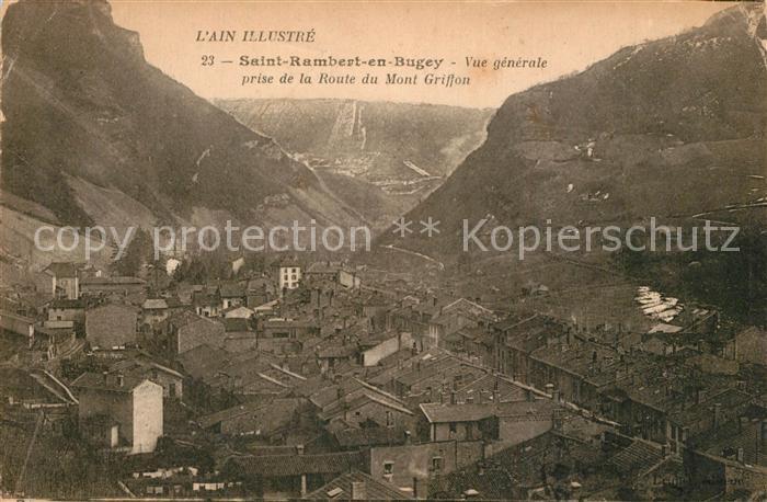 Saint Rambert en Bugey Prise de la Route du Mont Griffon Saint Rambert en Bugey