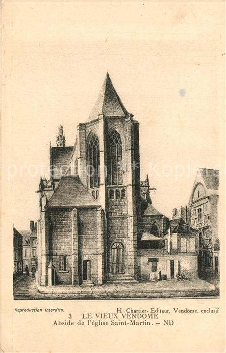 Vendome Abside de l`eglise Saint Martin Vendome