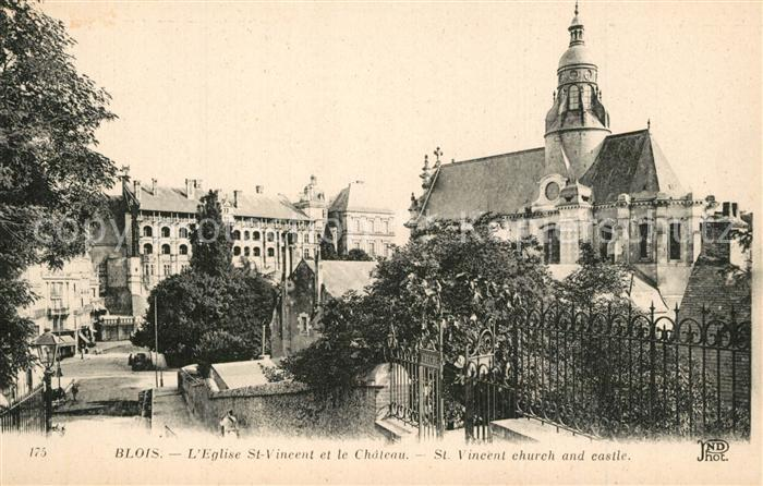 Blois_Loir_et_Cher Eglise St Vincent et le Chateau  Blois_Loir_et_Cher