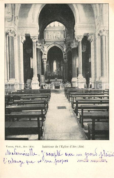 Ars_Ain Interieur de l'Eglise d Ars Ars_Ain
