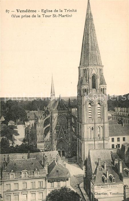 Vendome Eglise de la Trinite  Vendome