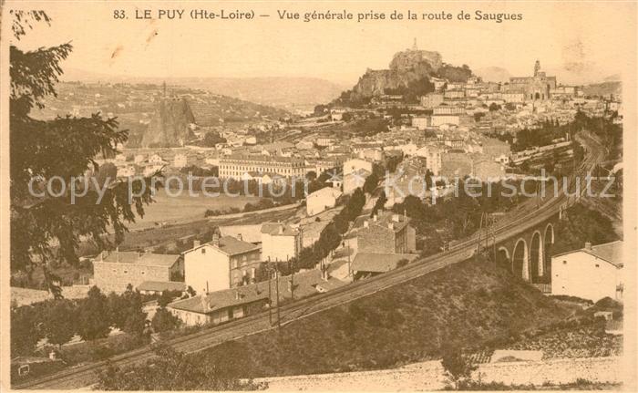 Le_Puy en Velay Vue generale prise de la route de Sangues Le_Puy en Velay
