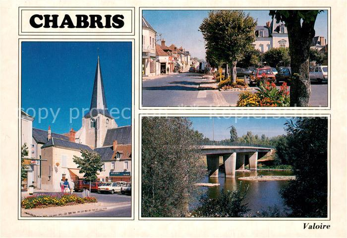 Chabris Place Boivin Eglise Rue du pont Pont se le Cher Chabris