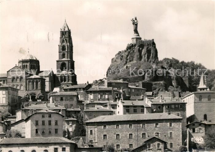Le_Puy en Velay Eglise Statue de Notre Dame de France Le_Puy en Velay