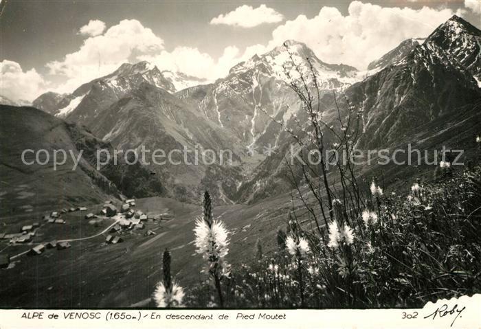 Venosc Alpe de Venosc en descendant de Pied Moutet Alpes Venosc