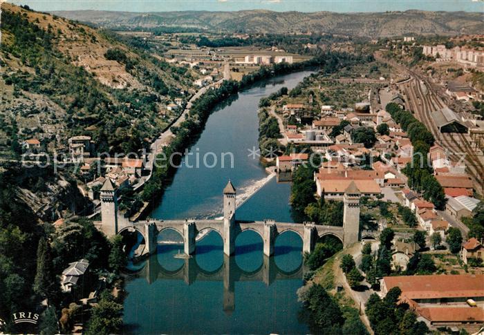 Cahors_en_Quercy Le Pont Valentre vue aerienne Cahors_en_Quercy