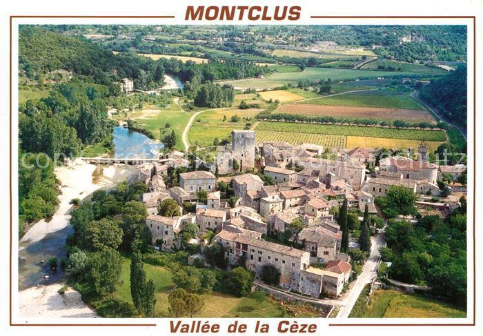 Montclus_Gard Vallee de la Ceze vue aerienne Montclus Gard