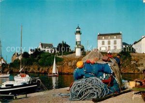 Doelan Le port et le phare Hafen Fischernetze Leuchtturm
