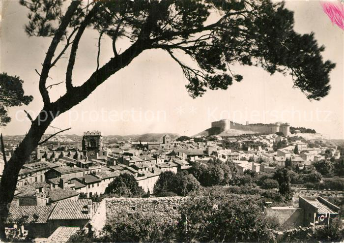 Villeneuve les Avignon Vue generale prise de la Colline des Mourgues Fort Saint Andre Collegiale Villeneuve les Avignon