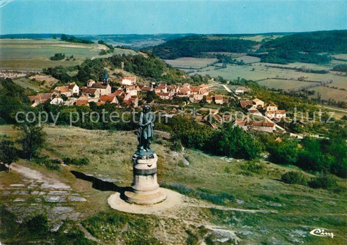 Alise Sainte Reine_Alesia(Roman War) Statue de Vercingetorix et camp de Cesar vue aerienne