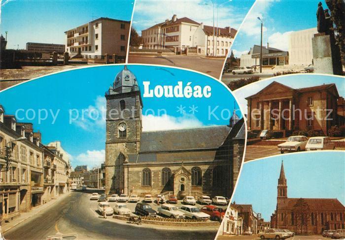 Loudeac Eglise Saint Nicolas Lycee Clinique Palais de Justice Chapelle Notre Dame Loudeac