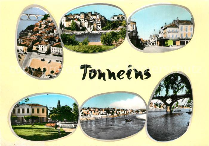 Tonneins Place du Chateau Jardin Hotel de Ville Bords de la Garonne Pont Tonneins