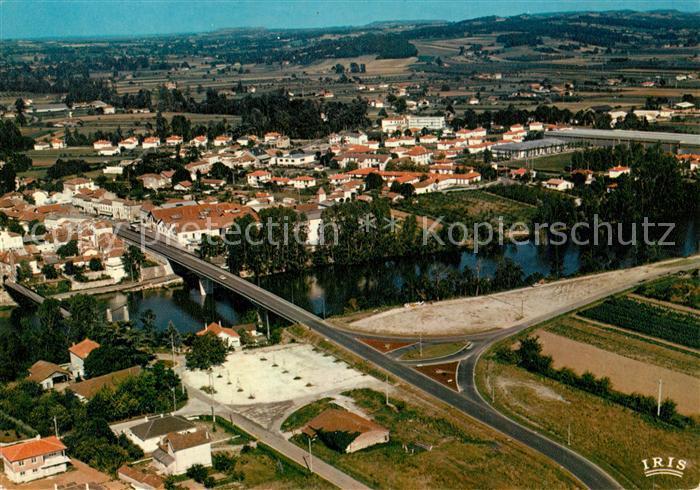 Casseneuil Nouveau Pont sur le Lot vue aerienne Casseneuil
