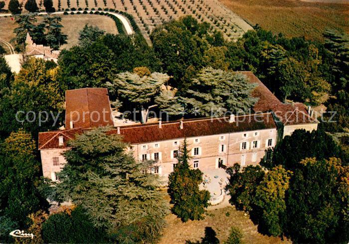 Saumont Chateau vue aerienne Saumont