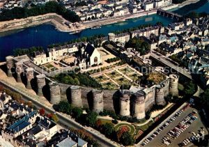 Angers Chateau vue aerienne Angers