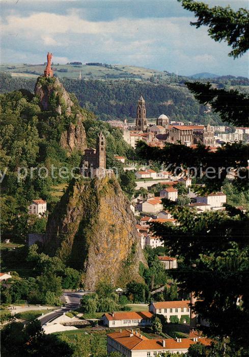 Le_Puy en Velay Panorama Cathedrale Rocher Corneille Statue Le_Puy en Velay