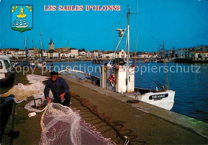 Les_Sables d_Olonne Port Bateau de peche la Chaume Les_Sables d_Olonne