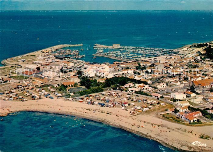 Ile_de_Noirmoutier Port de l Herbaudiere vue aerienne Ile_de_Noirmoutier