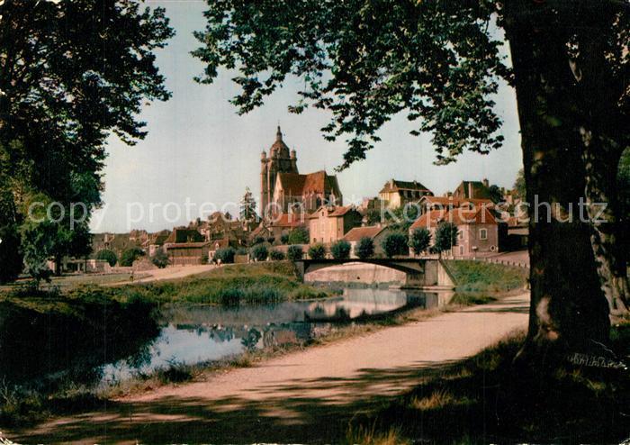 Dole_Jura Depuis les Bords du Canal Eglise Dole_Jura