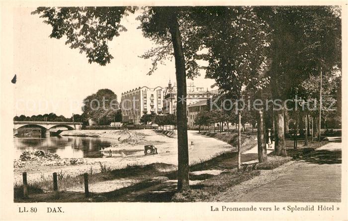 Dax_Landes Promenade vers le Splendid Hotel Dax_Landes