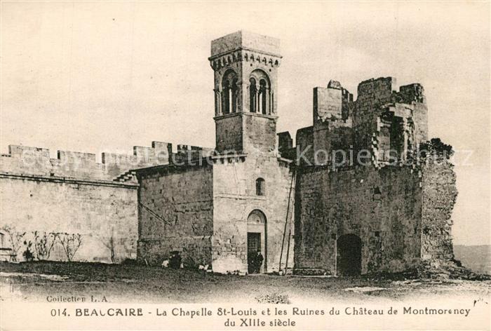 Beaucaire_Gard Chapelle et les Ruines du Chateau de Montmorency Beaucaire Gard