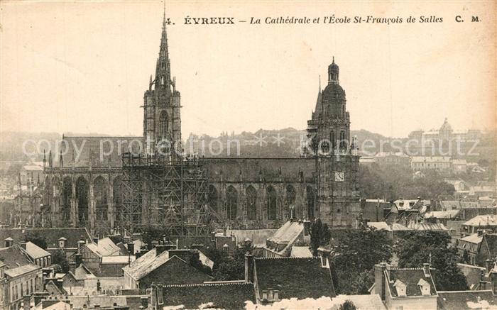 Evreux Cathedrale et Ecole St. Francois de Salles Evreux