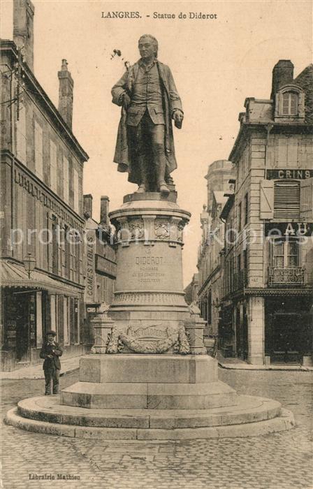 Langres Statue de Diderot Langres