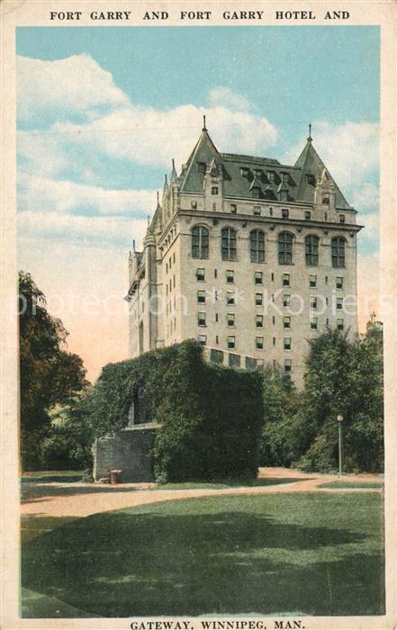Winnipeg Fort Garry Hotel and Gateway  Winnipeg