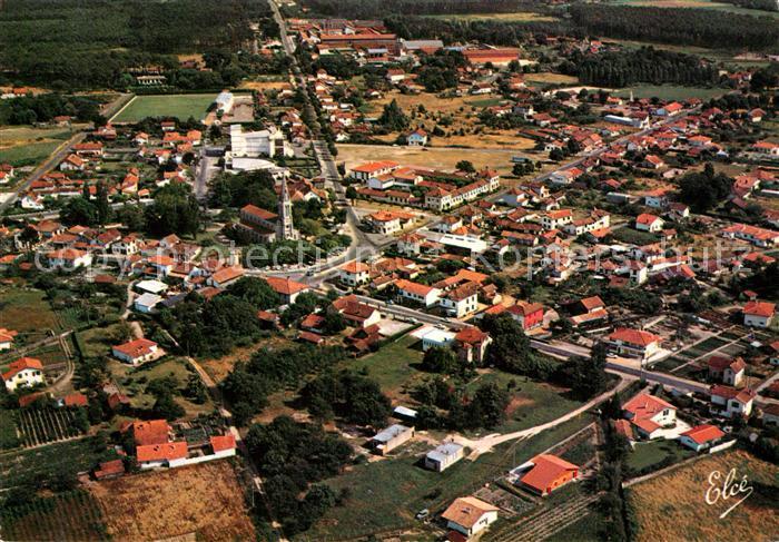 Mimizan_Landes et Mimizan Bourg Eglise Mairie vue aerienne Mimizan_Landes