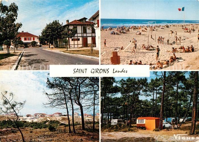 Saint_Girons_Landes Vue d ensemble Plage Camping