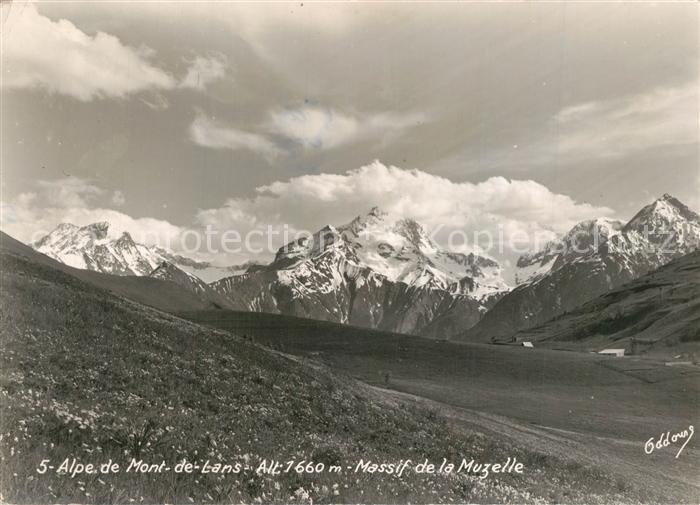Mont de Lans Panorama Alpe Massif de la Muzelle Alpes Mont de Lans