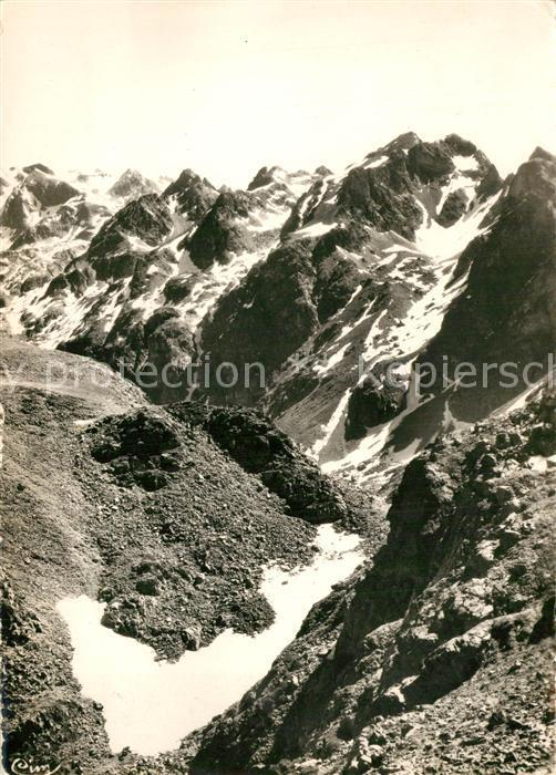 Chamrousse Le Grand Sorbier Chaine de Belledonne Pic central Gebirgspanorama Alpen Chamrousse