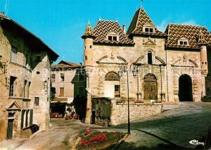 Saint Antoine l_Abbaye Facade principale de la Mairie et la Grande Rue Saint Antoine l Abbaye