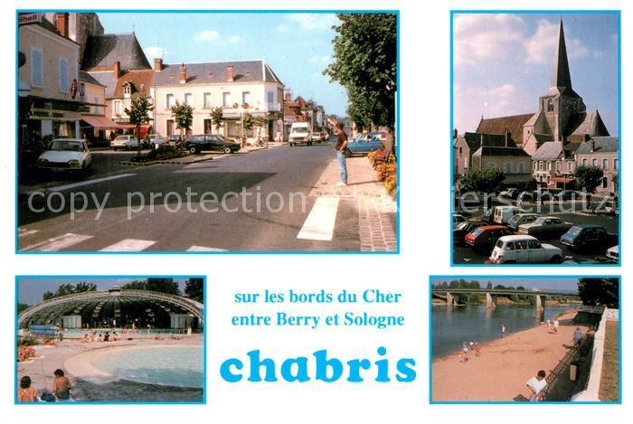 Chabris Centre ville Eglise Piscine Plage du Cher Chabris