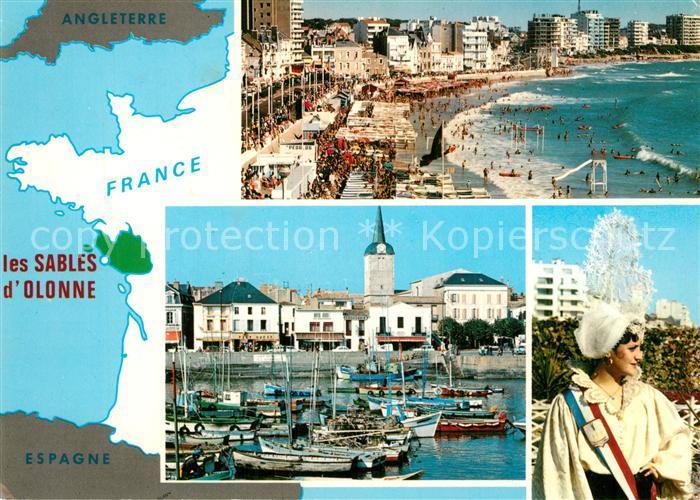 Les_Sables d_Olonne Plage Port de la Chaume Sablaise en costume Les_Sables d_Olonne