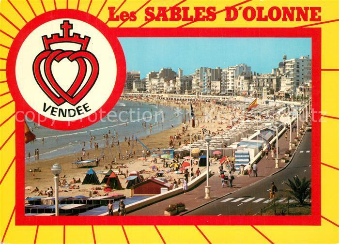 Les_Sables d_Olonne La plage et le remblai Wappen Les_Sables d_Olonne