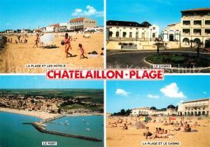 Chatelaillon Plage La plage et les hotels Casino Port vue aerienne Chatelaillon Plage
