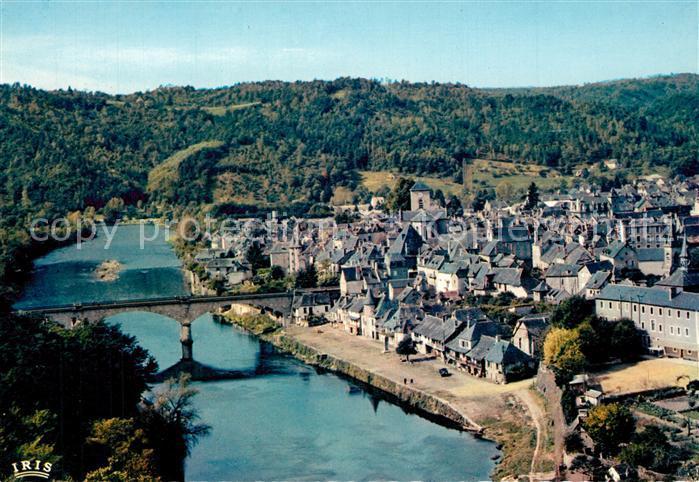 Argentat Pont sur la Dordogne vue aerienne Argentat