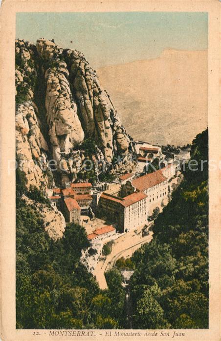Montserrat_Kloster El Monasterio desde San Juan Montserrat_Kloster