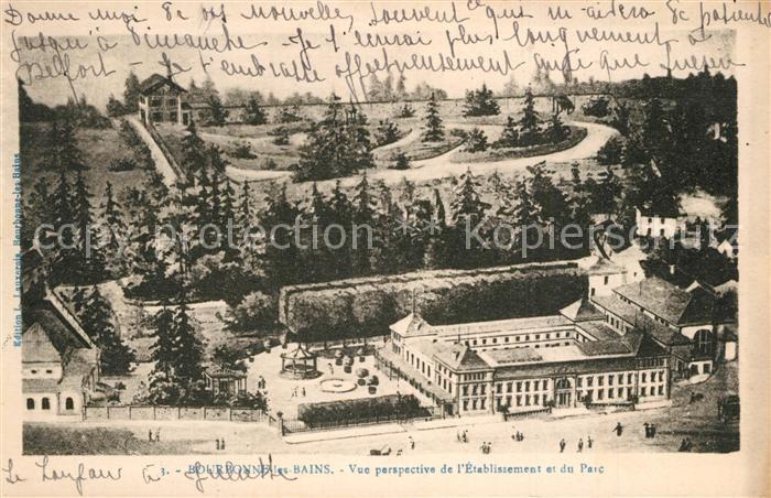 Bourbonne les Bains_Haute_Marne Vue perspective de l Etablissement et du parc Bourbonne les Bains_Haute