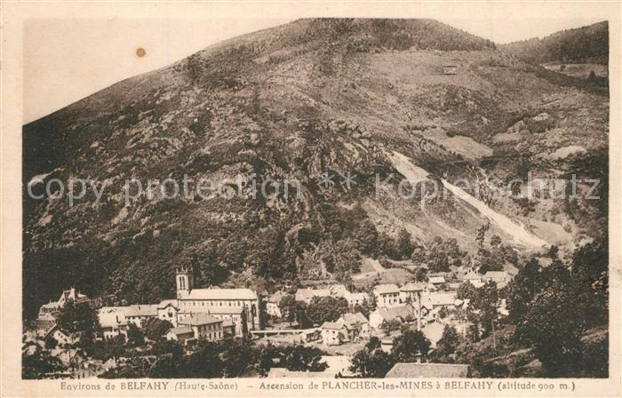 Belfahy Ascension de Plancher les Mines Belfahy