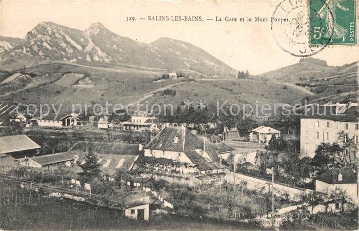 Salins les Bains Panorama La gare et Mont Poupet Salins les Bains