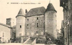Nemours_Seine et Marne Facade du Chateau Schloss Nemours Seine et Marne