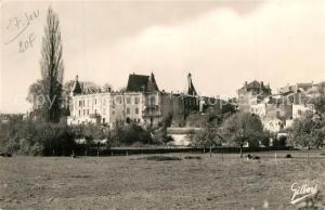 Jonzac Chateau vu de la Prairie Jonzac