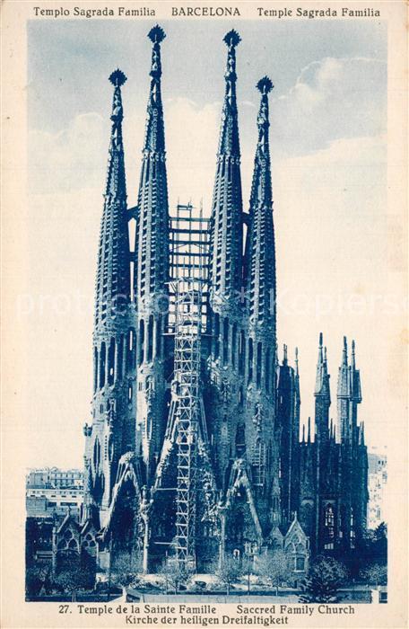 Barcelona_Cataluna Templo Sagrada Familia Kirche der heiligen Dreifaltigkeit Barcelona Cataluna
