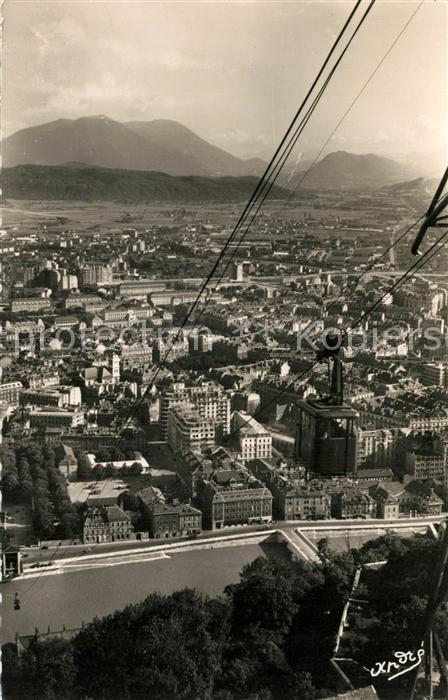 Grenoble Telepherique de la Bastille Perspective sur la ville Grenoble